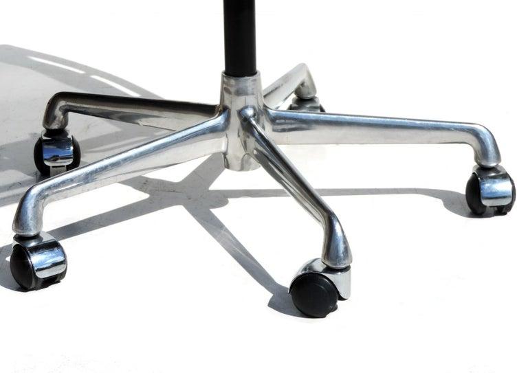 Aluminum 1980 EA 108 Charles Ray Eames Herman Miller ICF Design Swivel Chair For Sale