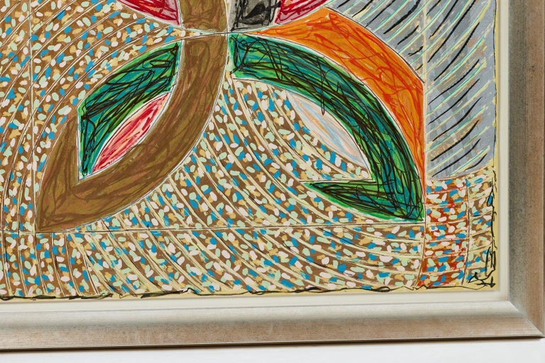 Late 20th Century 1980, Frank Stella, Color Lithograph For Sale