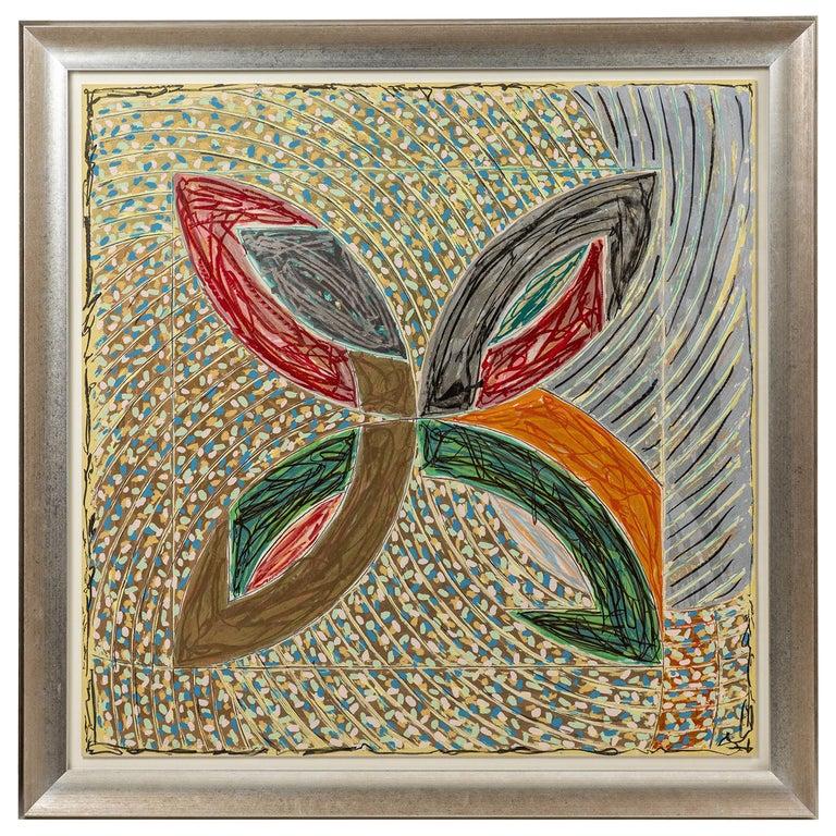 1980, Frank Stella, Color Lithograph For Sale