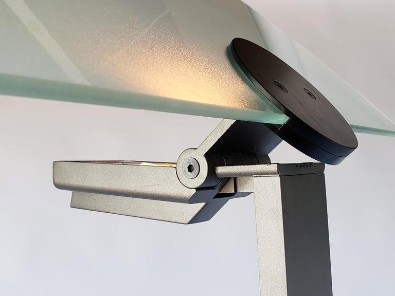 Aluminum 1980 Hans Von Klier 'Diadema' Halogen Floor lamp for Bilumen, Italy For Sale