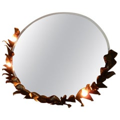 1980 Illuminating Mirror Style Duval Brasseur by Barbier for Jansen