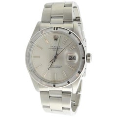 1980 Men's Rolex Thunderbird Stainless Steel Automatic Watch Silver Dial