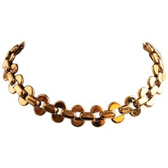 1980 One of a Kind Iconic Baraka' 18 Karat Yellow Gold Unisex Choker