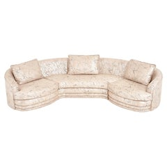 1980 Postmodern Sectional Sofa in Marble Upholstery