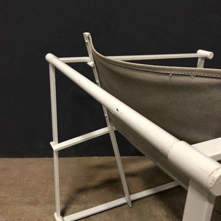 1980, Radboud Van Beekum for Pastoe, FM62 Cube Lounge Chair in Linen For Sale 4