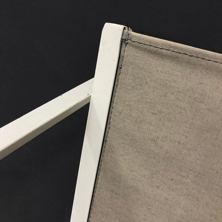 1980, Radboud Van Beekum for Pastoe, FM62 Cube Lounge Chair in Linen For Sale 6