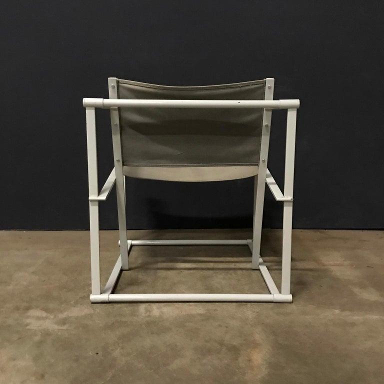 Late 20th Century 1980, Radboud Van Beekum for Pastoe, FM62 Cube Lounge Chair in Linen For Sale