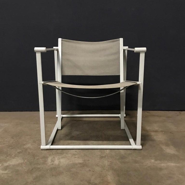 Metal 1980, Radboud Van Beekum for Pastoe, FM62 Cube Lounge Chair in Linen For Sale