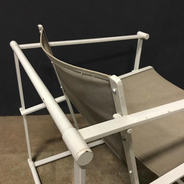1980, Radboud Van Beekum for Pastoe, FM62 Cube Lounge Chair in Linen For Sale 2