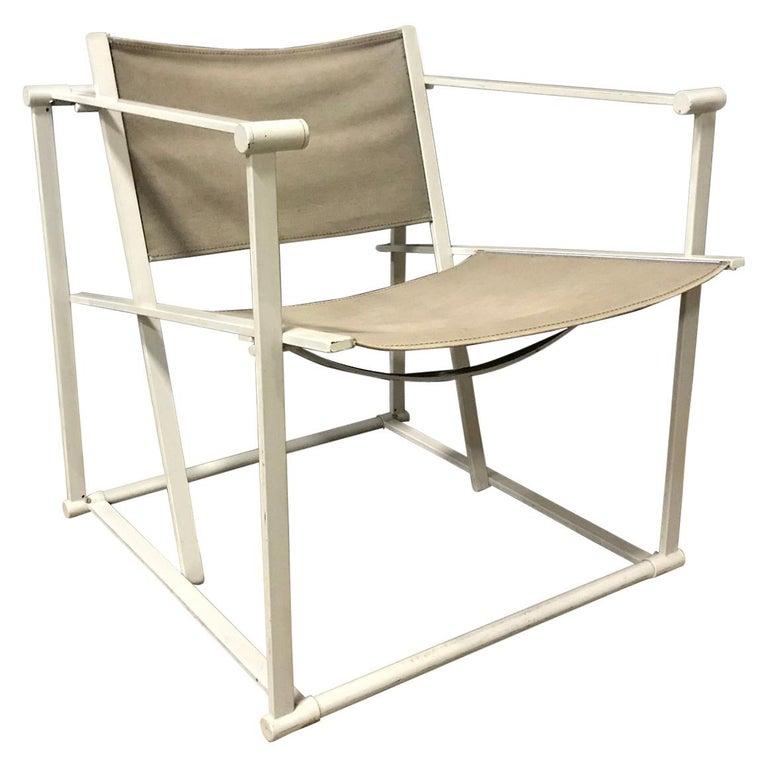 1980, Radboud Van Beekum for Pastoe, FM62 Cube Lounge Chair in Linen For Sale