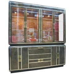1980 Romweber Buffet / China Cabinet; Circassian Walnut Veneer