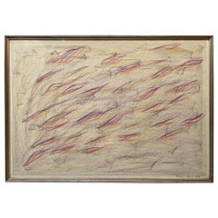 1980 Signed and Certified Pastel on Paper by Claudio Verna