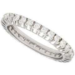 1980s 1.07 Carat Diamond and White Gold Full Eternity Ring