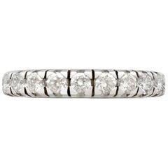 1980s 1.76 Carat Diamond White Gold Full Eternity Ring- Size 6 1/4