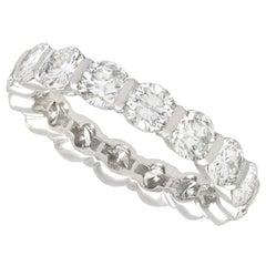 1980s 2.88 Carat Diamond and White Gold Full Eternity Ring
