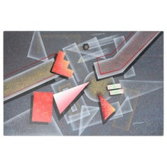 1980s Abstract Airbrush Painting
