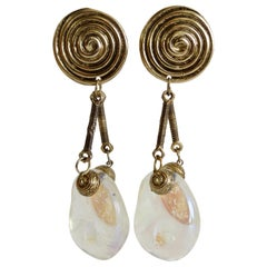 1980s Abstract Dangle Earrings