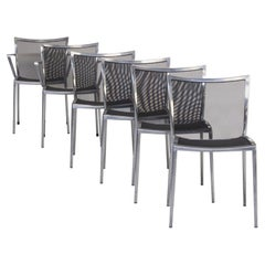 1980s Aluminium and Netwaeve Dining Chairs for Zanotta, Set of 6