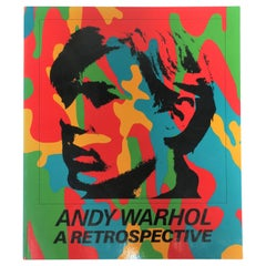 1980s 'Andy Warhol A Retrospective' Library or Coffee Table Book