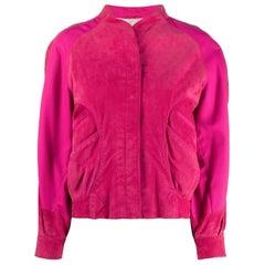 1980s A.N.G.E.L.O. Vintage Cult Fuchsia Suede Jacket