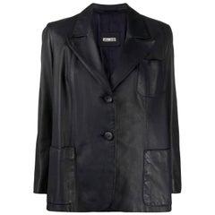 1980s A.N.G.E.L.O. Vintage Cult Leather Blazer