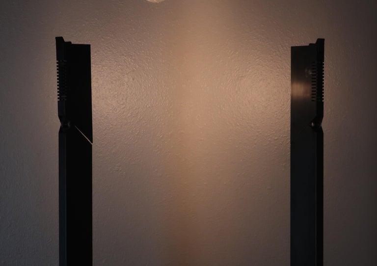1980s Angular Black Floor Lamps for Pollux Skipper For Sale 4