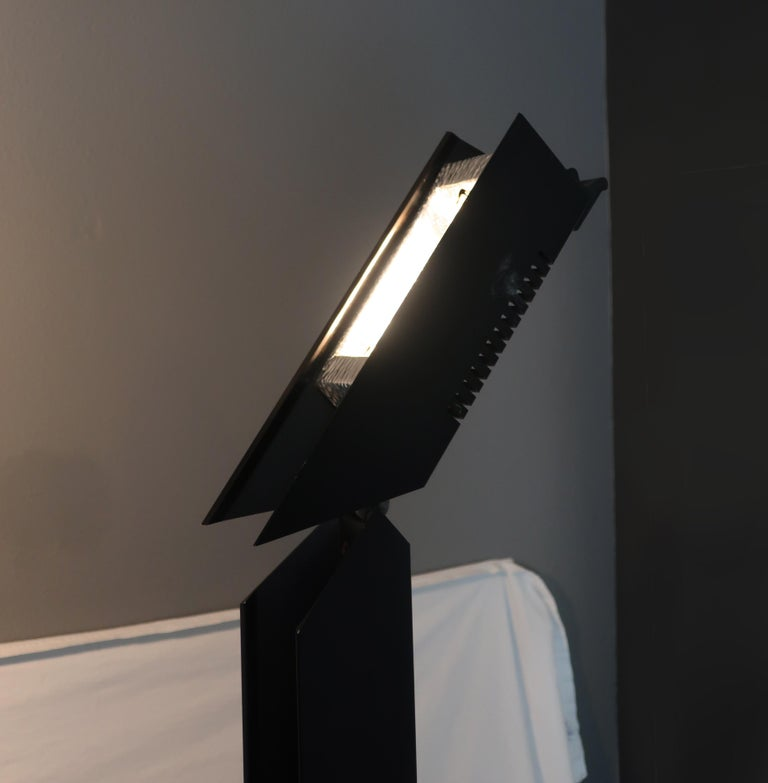 1980s Angular Black Floor Lamps for Pollux Skipper For Sale 5