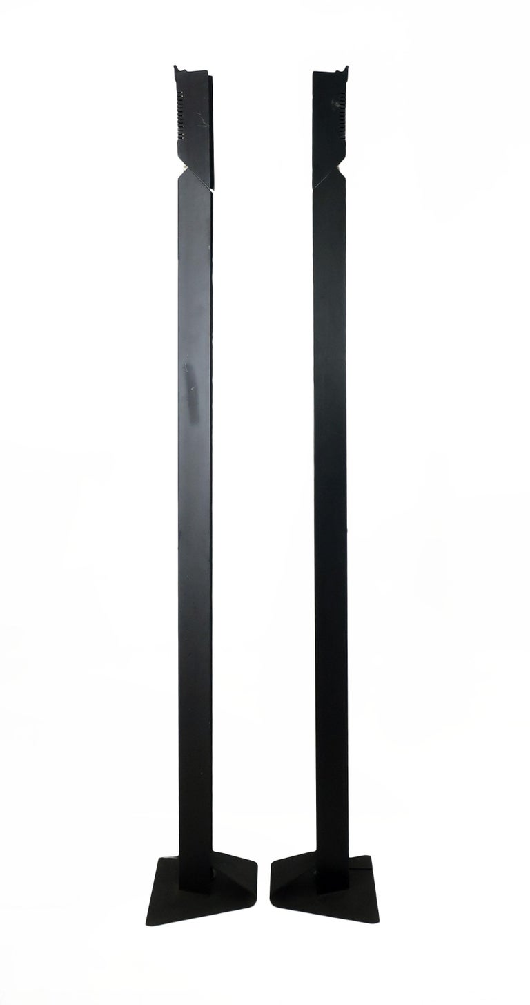 Post-Modern 1980s Angular Black Floor Lamps for Pollux Skipper For Sale