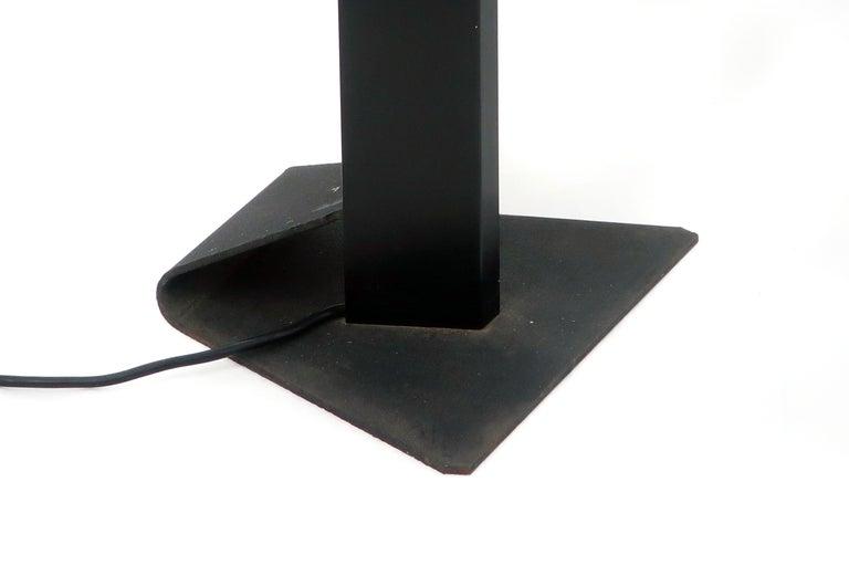 1980s Angular Black Floor Lamps for Pollux Skipper For Sale 1