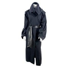 1980s Anne Marie Beretta Charcoal Wool Coat