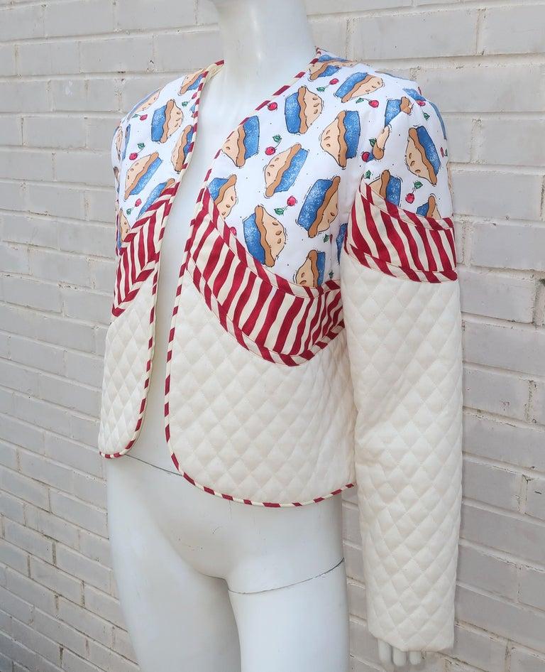 Women's 1980's Artisan All American Pop Art Jacket For Sale