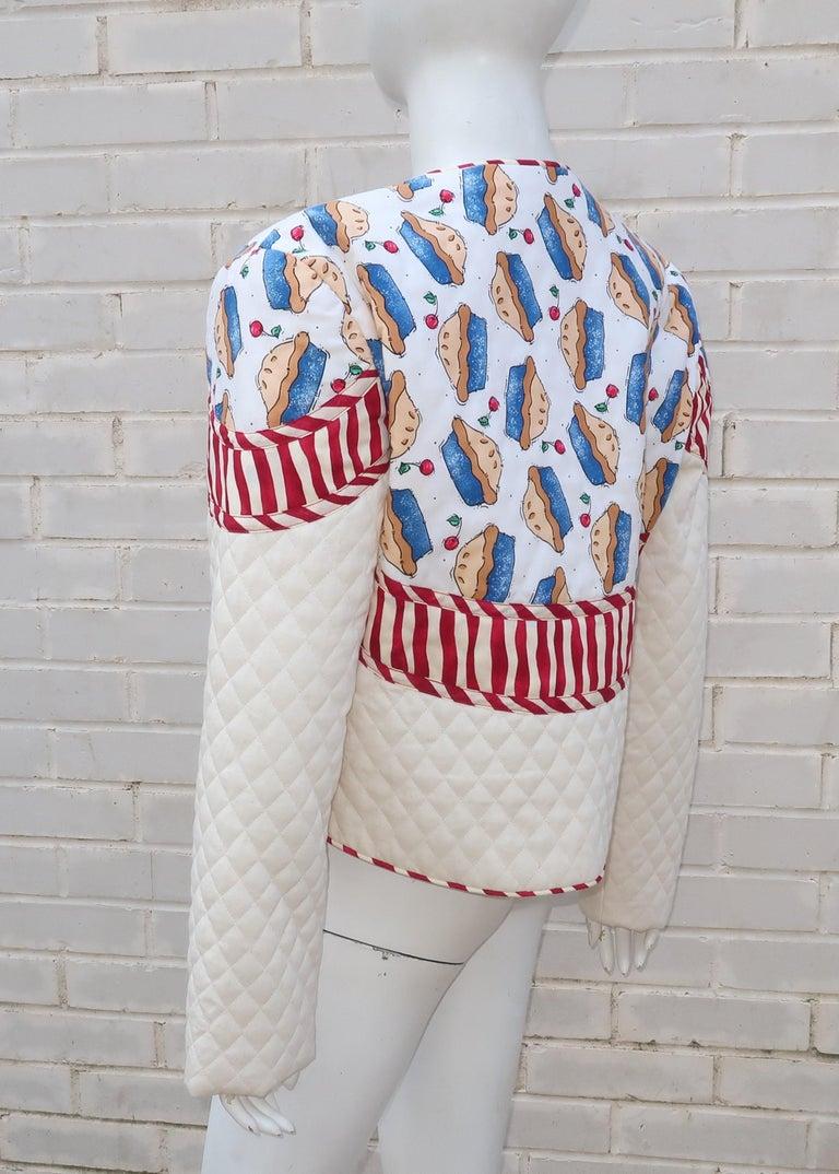 1980's Artisan All American Pop Art Jacket For Sale 2