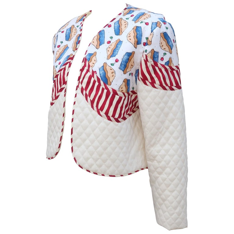 1980's Artisan All American Pop Art Jacket For Sale