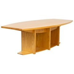 1980s Ashwood Architectural Taylor Made Oval Dining Table