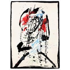 1980s Axminster Ege Art Line Abstract Art Rug by Robert Jacobsen