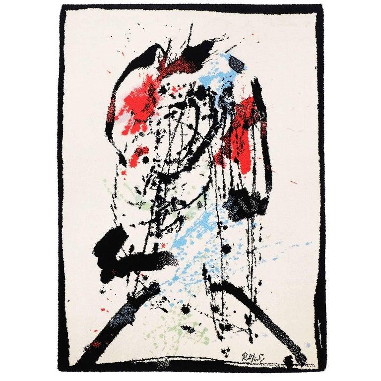 Ege Art Line Rug: 1980s Axminster Ege Art Line Abstract Art Rug By Robert