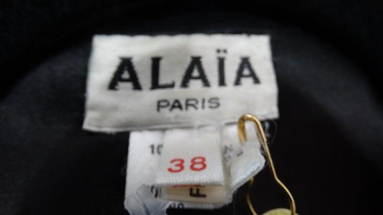 1980s Azzedine Alaia Black Suede Corset Jacket For Sale 3
