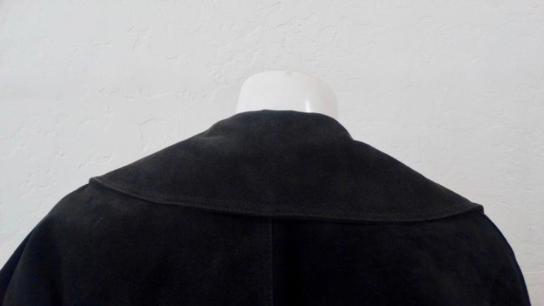1980s Azzedine Alaia Black Suede Corset Jacket For Sale 5
