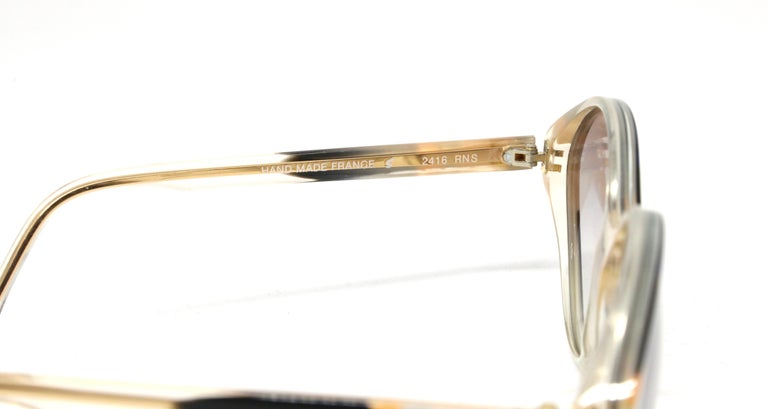 1980's BALENCIAGA striped sunglasses In Excellent Condition For Sale In San Fransisco, CA