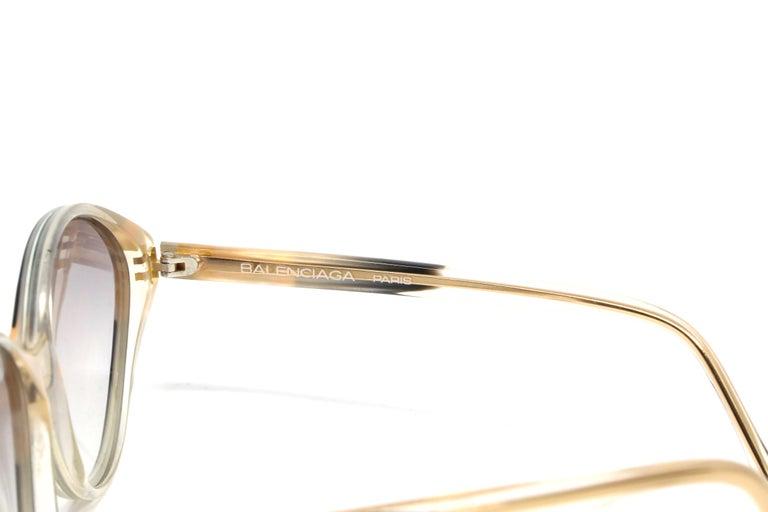 Women's or Men's 1980's BALENCIAGA striped sunglasses For Sale