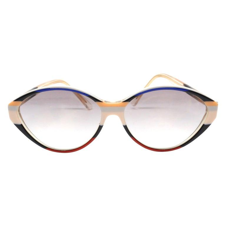 1980's BALENCIAGA striped sunglasses For Sale