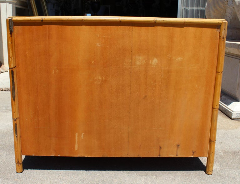 1980s Bamboo and Rattan Chest of Drawers 1