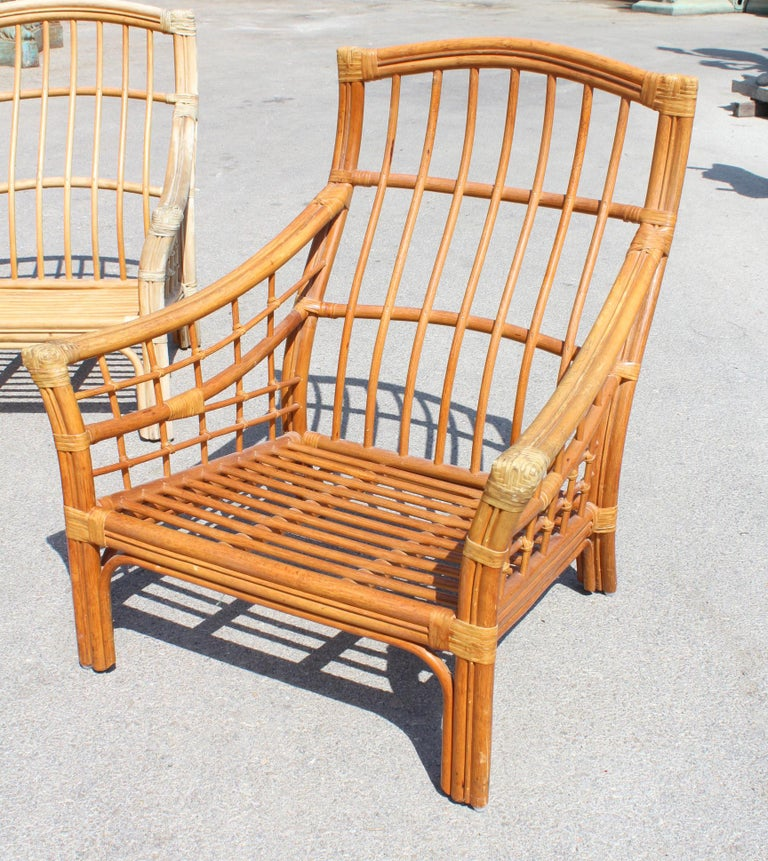 1980s Bamboo Garden Furniture Set For Sale at 1stdibs
