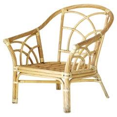 1980s Bamboo Vintage garden Armchair