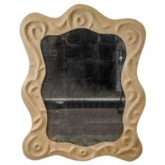 "1980s ""Barocco"" Carton Mirror in the Style of Garouste & Bonetti"
