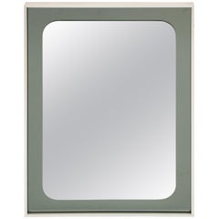 1980s Belgian Knitter Duro Two-Tone Glass Wall Hanging Mirror