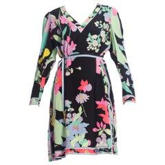 1980S Bergdorf Goodman Leonard Floral Silk Dress