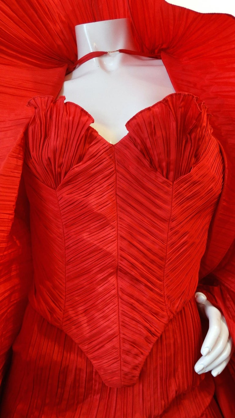 1980s Bernard Perris Couture Silk Crepe Bustier  For Sale 5