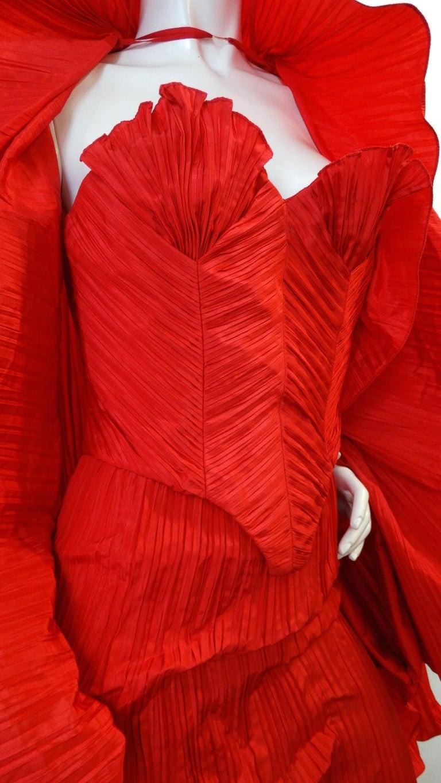 Women's 1980s Bernard Perris Couture Silk Crepe Bustier  For Sale