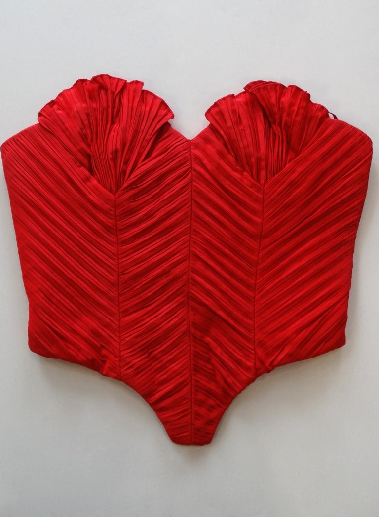 1980s Bernard Perris Couture Silk Crepe Bustier  For Sale 2